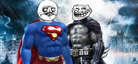 Batman-superman-trollface