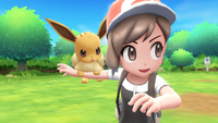 Pokémon Let's Go - Screenshot 02 - Evoli & Trainer
