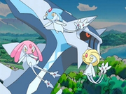 Uxie, Mesprit and Azelf (PMD anime)