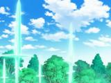 Mimikyu de Haru usando Danza Espada