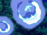 Mimikyu de Haru usando Fuego fatuo