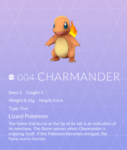 Charmander pokedex