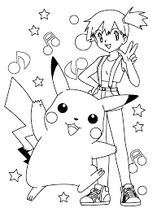 Pikachu-misty-kleurplaat