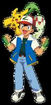 Ash-Pikachu-Chikorita
