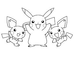Pikachu-pichu-kleurplaat