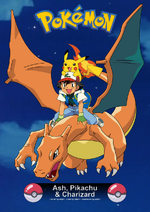 Pokemon card ash pikachu y charizard