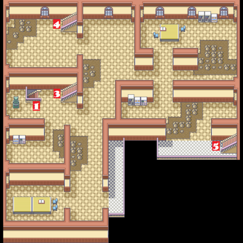 Kanto Pokémon Mansion F2 Map