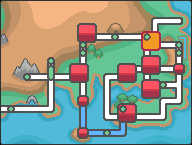 Kanto Cerulean City Map