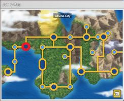 Olivine on map