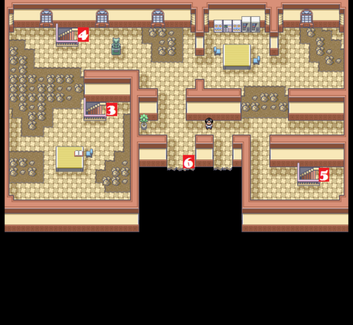 Kanto Pokémon Mansion F3 Map