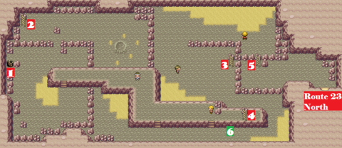 Kanto Victory Road F2 Map