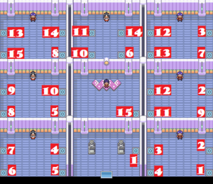 Saffron Gym Map