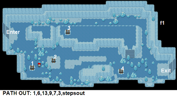 Pokemon Blue Seafoam Islands Cave Map
