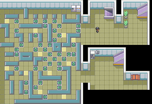 Kanto Rocket Hideout F2 Map