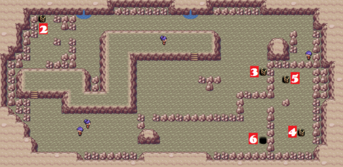 Kanto Victory Road F3 Map
