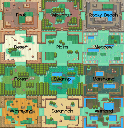 Johto Safari Zone Layout