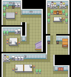 Kanto Rocket Hideout F4 Map