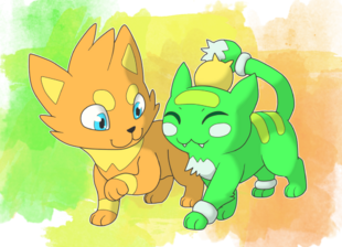 Fanart kitten caboodle by involuntary twitch-d91tjas