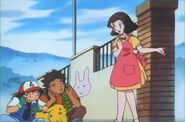 Reiko with Ash and Brock