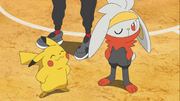 Goh Raboot and Ash Pikachu