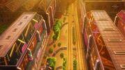 Nacrene City in the anime