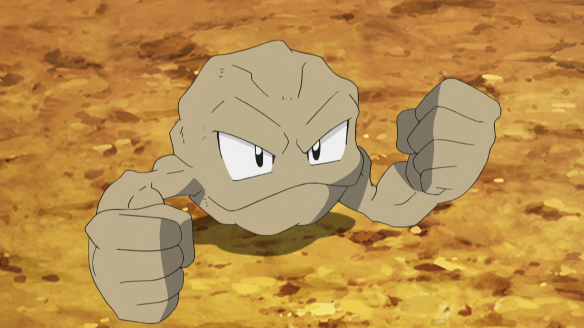 Brock Geodude anime