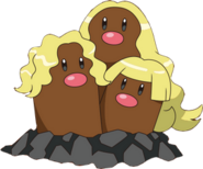 051 Dugtrio Alolan anime
