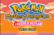 Pokémon Mystery Dungeon Red Rescue Team Title Screen