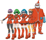 Team Flare Scientists XY anime