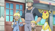 Clemont with Meyer and Bonnie