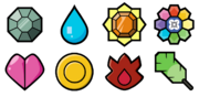 Kanto Gym Badges (Let's Go)