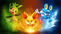 Pokemon x y starter wallpaper by arkeis pokemon-d5qv7uj