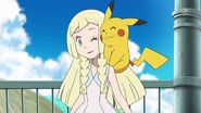 Lillie and Pikachu