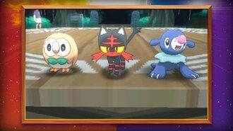 Показ початкових покемонів в Pokémon Sun and Pokémon Moon!