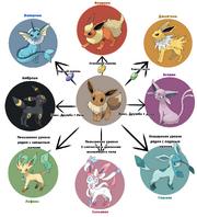 Eevee evolution chart by Selozar