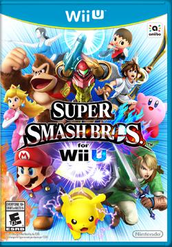 대난투 스매시브라더스 Wii U 북미판 박스아트
