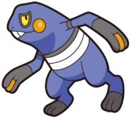453Croagunk DP anime 6
