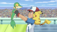 Ash and Snivy