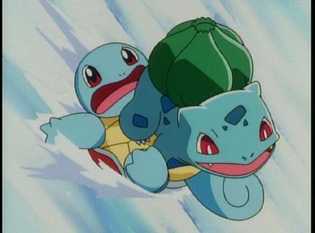 File:Bulbasaur and Squirtle go sledding.jpg