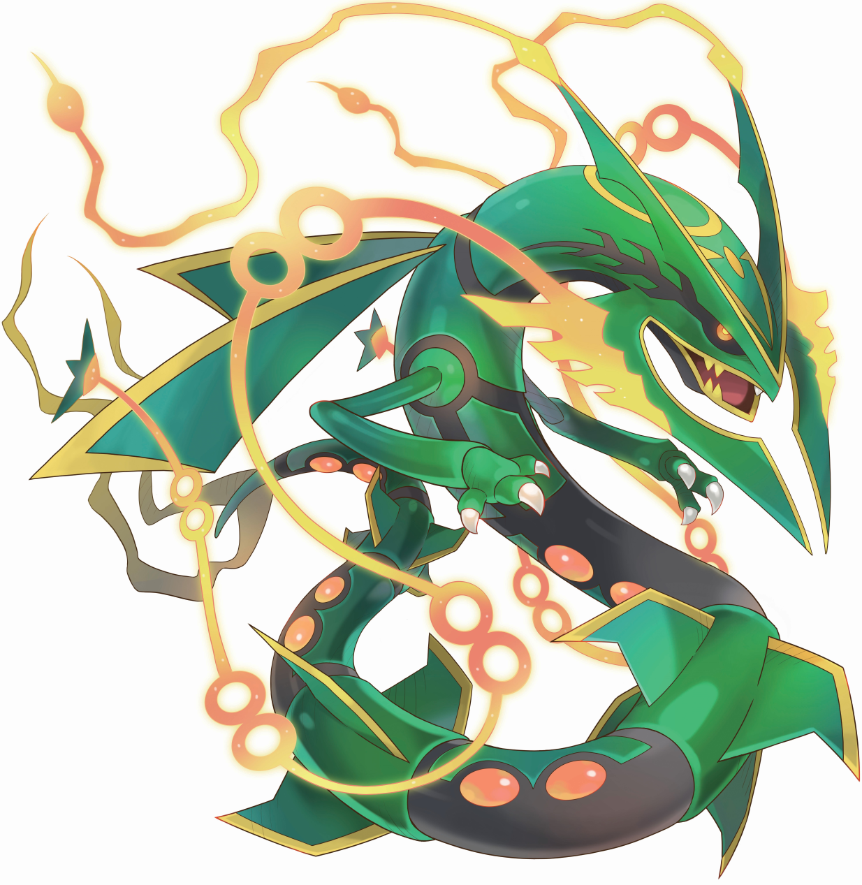 Image 384mega rayquaza pokemon super mystery - Dessin de rayquaza ...