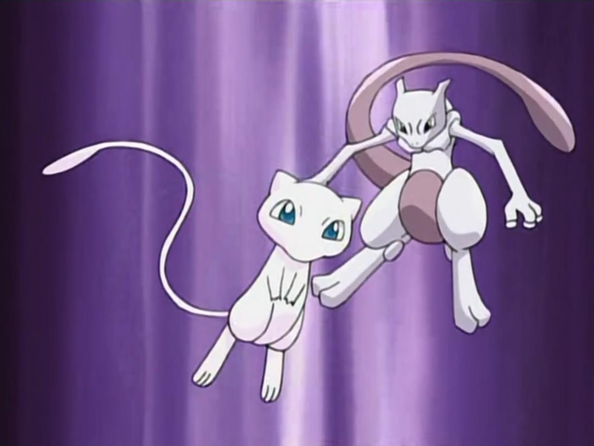 image mew and mewtwo in johto journeys opening png pokémon wiki