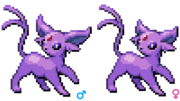 Espeon beta gender sprites