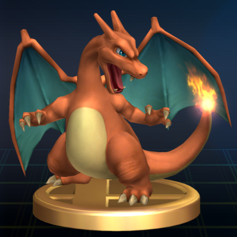 File:Charizard trophy SSBB.png