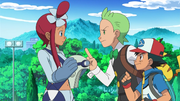 Ash and Cilan confront Skyla