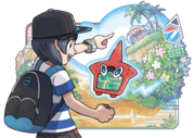 Sun Moon Rotom Pokédex artwork