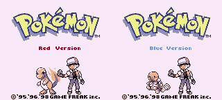Pokemon red og blue start