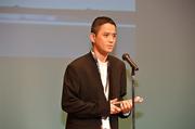 Satoshi Tajiri receiving a award