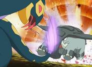 Ash's Donphan vs. Lucy's Seviper