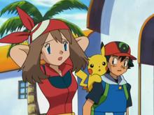 May besluit dat zij en Ash samen gaan reizen
