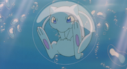 Mew inside a bubble